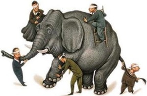 SIX BLIND MEN & THE ORGANIZATIONAL ELEPHANT: Microscopic and Telescopic Versions of the Fundraising Narrative